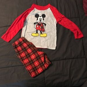 Disney Mickey Mouse Red Pajamas Size 6
